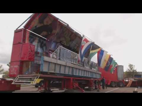 FAIRGROUND BUILD UP  SCOTLAND Kyle Taylor's MEGA MOTION Miami complete build up HD