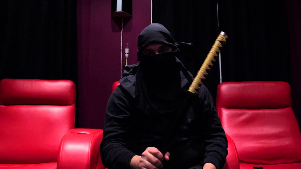 Black t shirt ninja mask - How To Make A Ninja Mask Using A Black T Shirt A Short Sword Fight