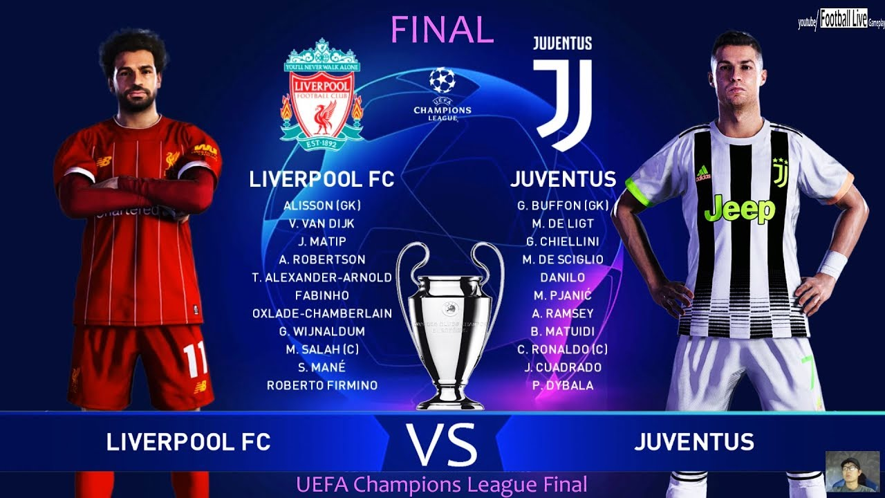 Pes 2020 Liverpool Vs Juventus Final Uefa Champions League Ucl Ronaldo Vs Salah Gameplay Youtube