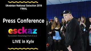 ESCKAZ in Kyiv: Press conference with Andrey Danilko (Jury in Ukrainian National Selection 2018)