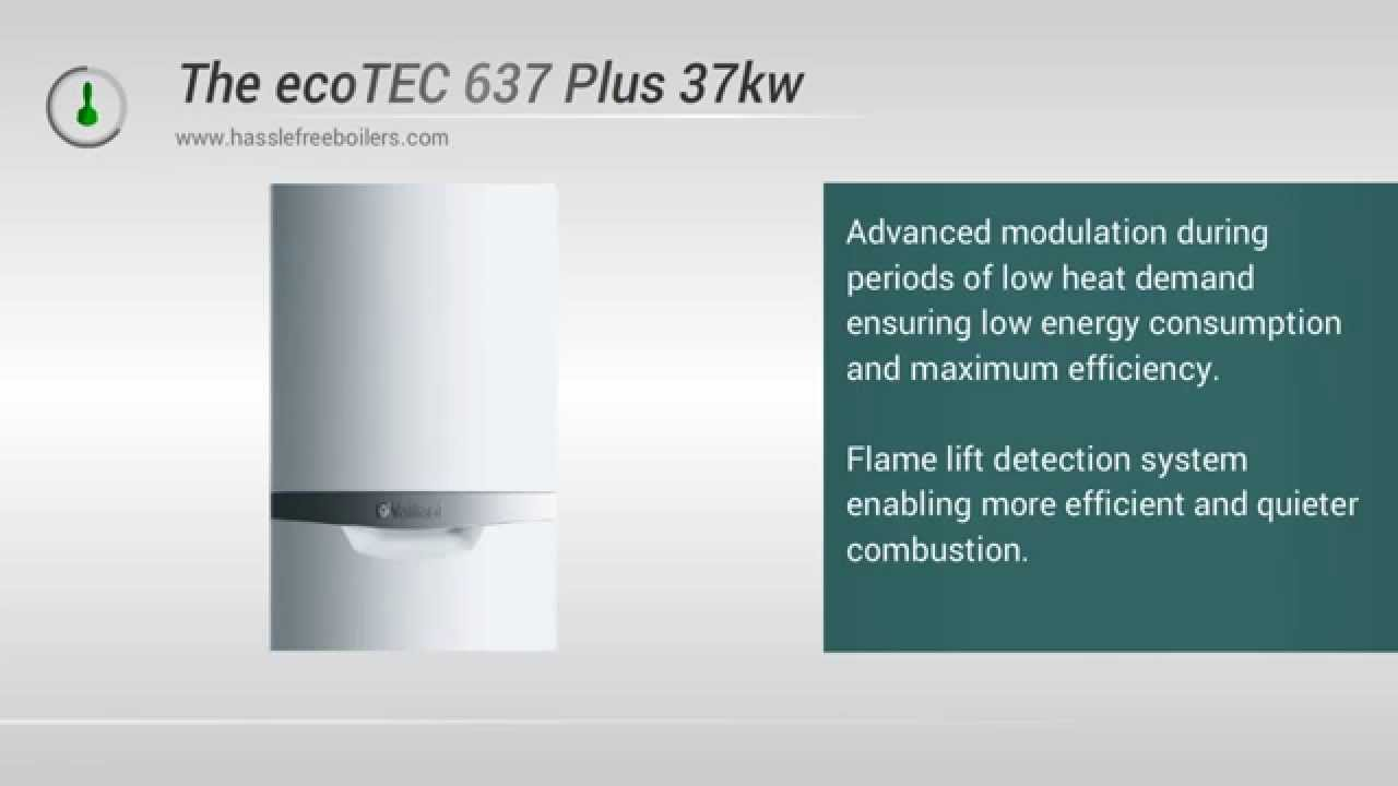 Vaillant 637 ecoTEC 37kw System Boiler Video Review - YouTube