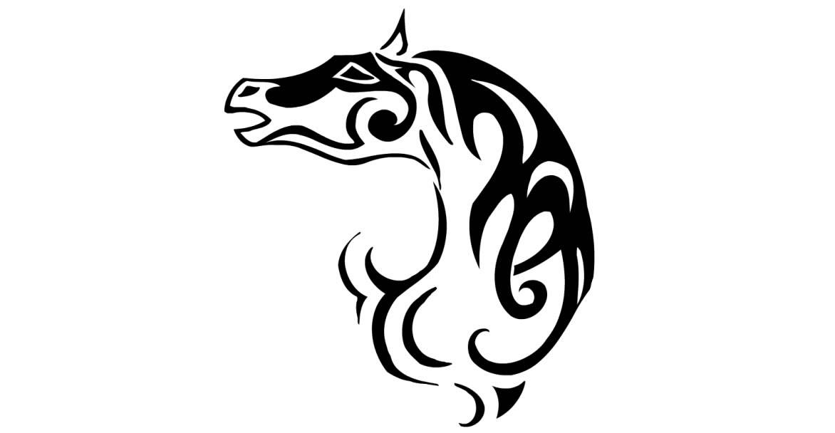 draw a tattoo wild horse 088