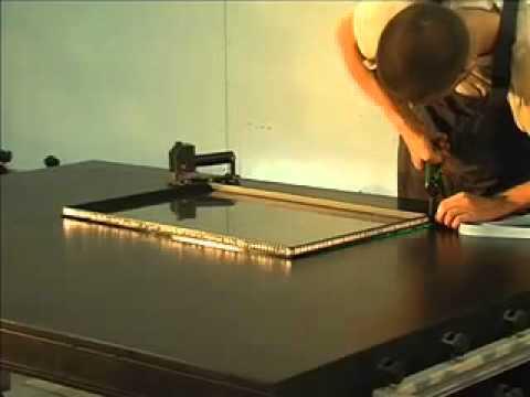 видео: Монтажный стол для изготовления стеклопакетов