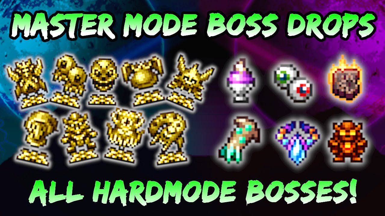Master Mode Boss Drops New Pets Relics In Terraria Journey S End 1 4 Hardmode Bosses Youtube