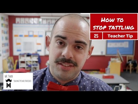 How to stop TATTLING | Teaching Tip