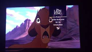Dvd Menu Lion King Release