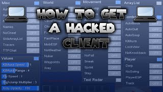 Minecraft 1.8 - 1.8.9 : How to Install a Hacked Client (Windows 10/7/8) 2016-2017