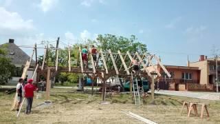 Dőre pajta építése - time lapse