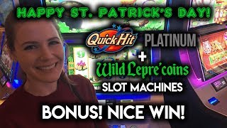 connectYoutube - HAPPY ST Patricks DAY! Leprecoins Slot Machine! Bonus WIN!!!