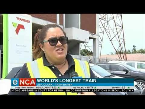 Image result for Transnet Freight Rail now operates a four-kilometer long train with the highest number of wagons in the world. And at the helm of it all is a lone lady driver.