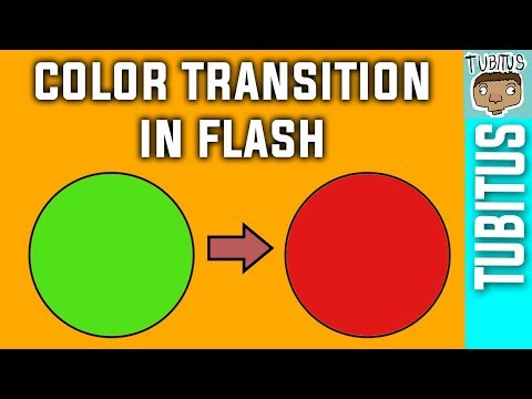 How to animate an object changing color in Adobe Flash, transformation animation tutorial