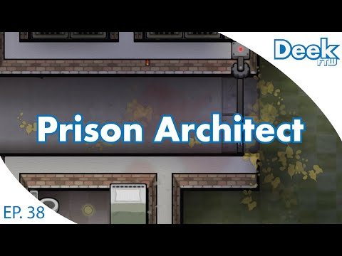 Prison Architect Ep.38 - Getting the First Minimum Security Prisoners - Prison Yard Brawl Casualties