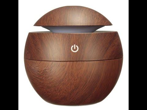 Recensione ITA Mohoo umidificatore diffusore ad ultrasuoni Grano di legno USB ultrasonico