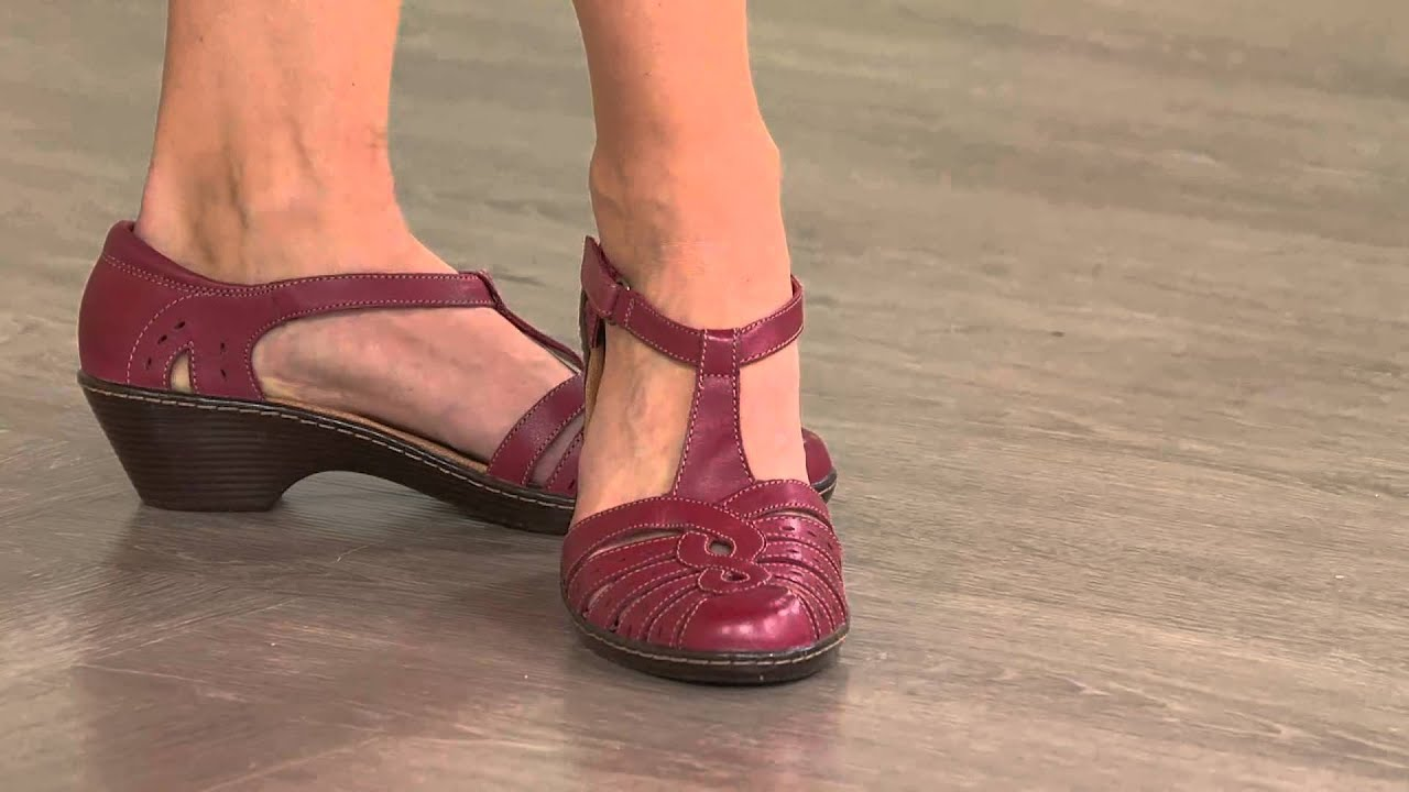 1d09372ee5ffa Clarks Leather Cut-out Sandals - Wendy Tiger - YouTube