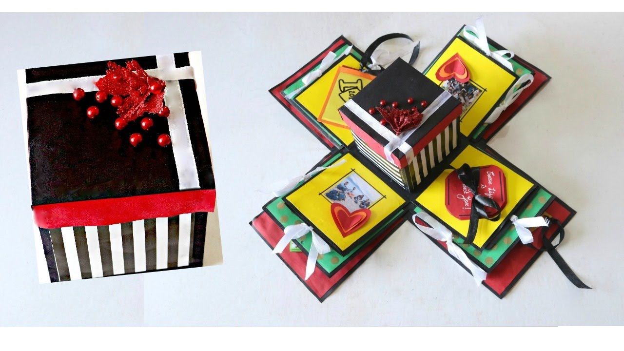 Diy Explosion Gift Box For Beginners How To Make The Basic Structure Of Explosion Box