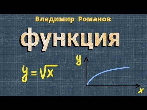 Функция y = √¯x ➽ Алгебра 8 класс ➽ Видеоурок
