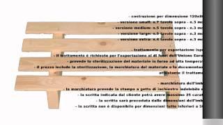 Pallet in legno a 2 vie leggero Video