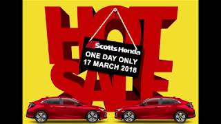 Sale Event at Scotts Honda 17th of March 2018