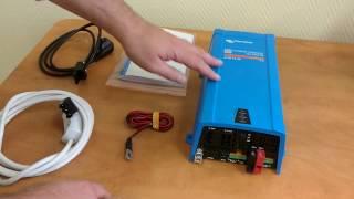 видео Инвертор с чистым синусом Victron Phoenix 12/350 — купить инвертор 12 в 220 Вольт для автомобиля в Солнечные.RU