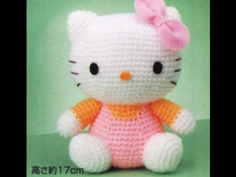 HELLO KITTY TEJIDA A CROCHET /HELLO KITTY AMIGURUMI - YouTube