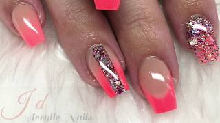 Acrylic nails | summer nails | cjp | glam and glits