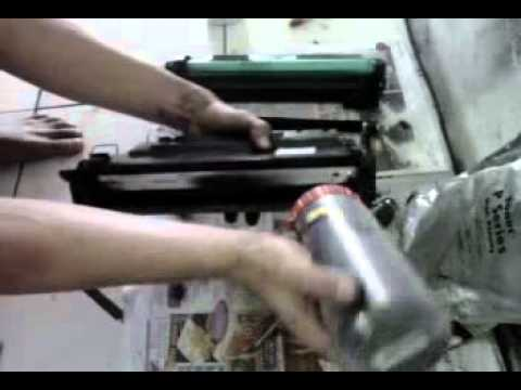 Hp Laserjet P3015 Cara Isi Ulang Toner Catridge 55 A Youtube
