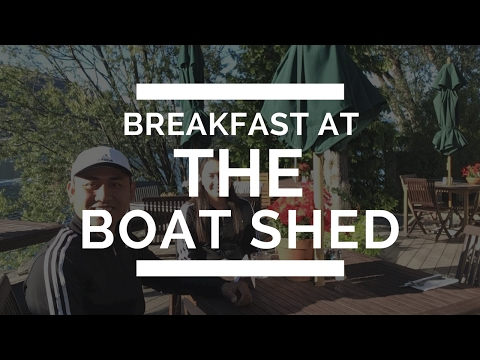 Breakfast at the Boat Shed Café - Queenstown, New Zealand