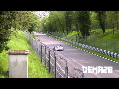 2013 Audi R18 TDI LMP1 test in Monza without 1st chicane! HD
