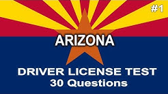 Arizona Driver License Test - 30 questions