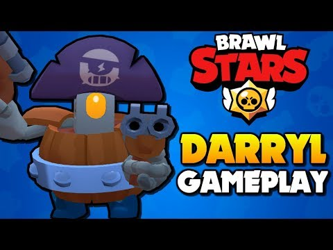DARRYL GAMEPLAY - Super Rare Brawler Tips | Brawl Stars