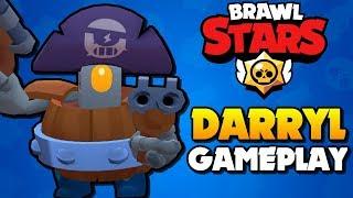 DARRYL GAMEPLAY - Super Rare Brawler Tips | Brawl Stars