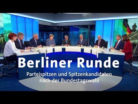 Bundestagswahl: Berliner Runde der Parteispitzen