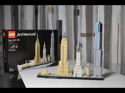 lego architecture new york. LEGO Architecture Set 21028 New York City Unboxing U0026 Review Deutsch German Lego