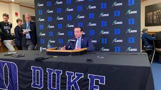 Full Coach K Duke vs Syracuse Post-Game Press Conference
