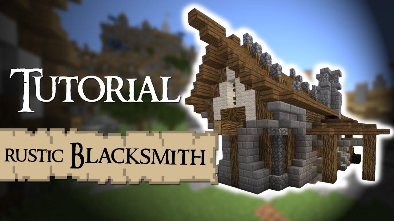 BLACKSMITH rustic Medieval Minecraft Tutorial  YouTube