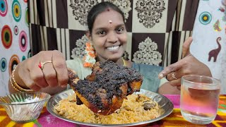 EATING PRESSURE COOKER BRIYANI WITH SPICY CHICKEN THIGH EATING MUKBANG  MINIS FOOD CHALLENGE