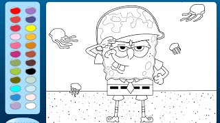 Spongebob Square Coloring Pages Kids