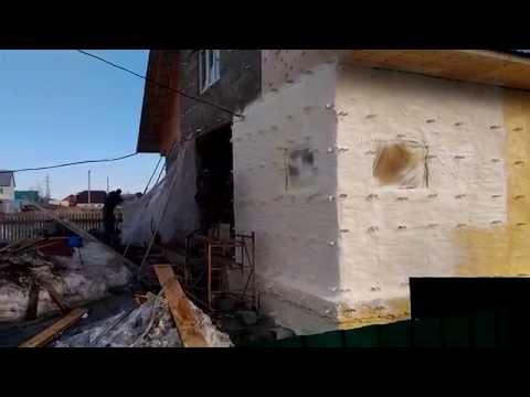 Утепление дома из пеноблока НСТ Алтай