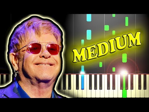 ELTON JOHN - YOUR SONG - Piano Tutorial (Karaoke Version)