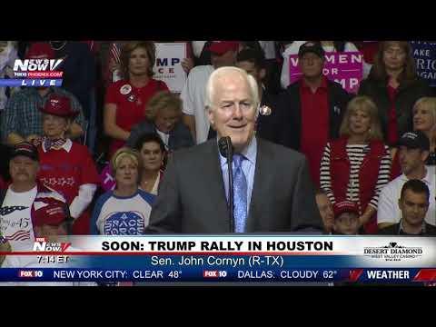 CORNYN REMARKS: Sen. John Cornyn (R-TX) speaks ahead of Houston #MAGArally (FNN)