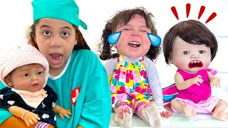 SARAH finge brincar de BABÁ POR UM DIA de uma creche !!!