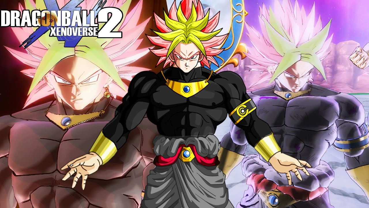 Goku Black And Broly Fuse Legendary Dark God Karoly Black Unleashed Dragon Ball Xenoverse 2 Mods