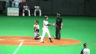 vs読売 観客数25365人 90通路25列目 4回裏ツーアウト1塁2対0の場面 一塁走者近藤健介 投手ポレダ.