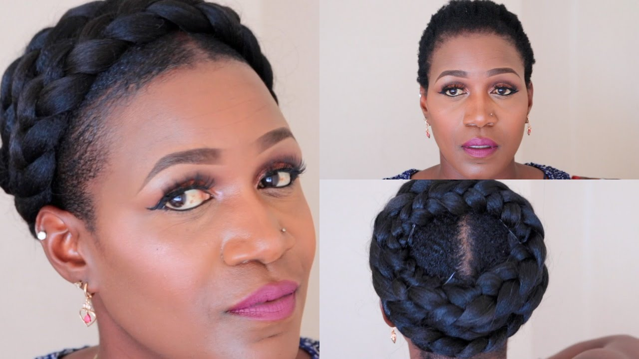3 Goddess Braids Hairstyles: Grecian Goddess Braid On Short Natural Hair