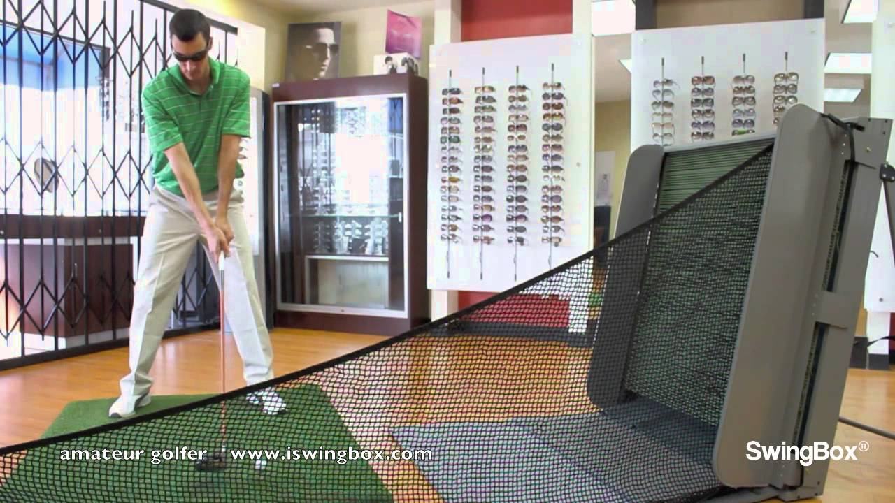 Golf Net, Golf Nets, Driver use with SwingBox, indoors - YouTube