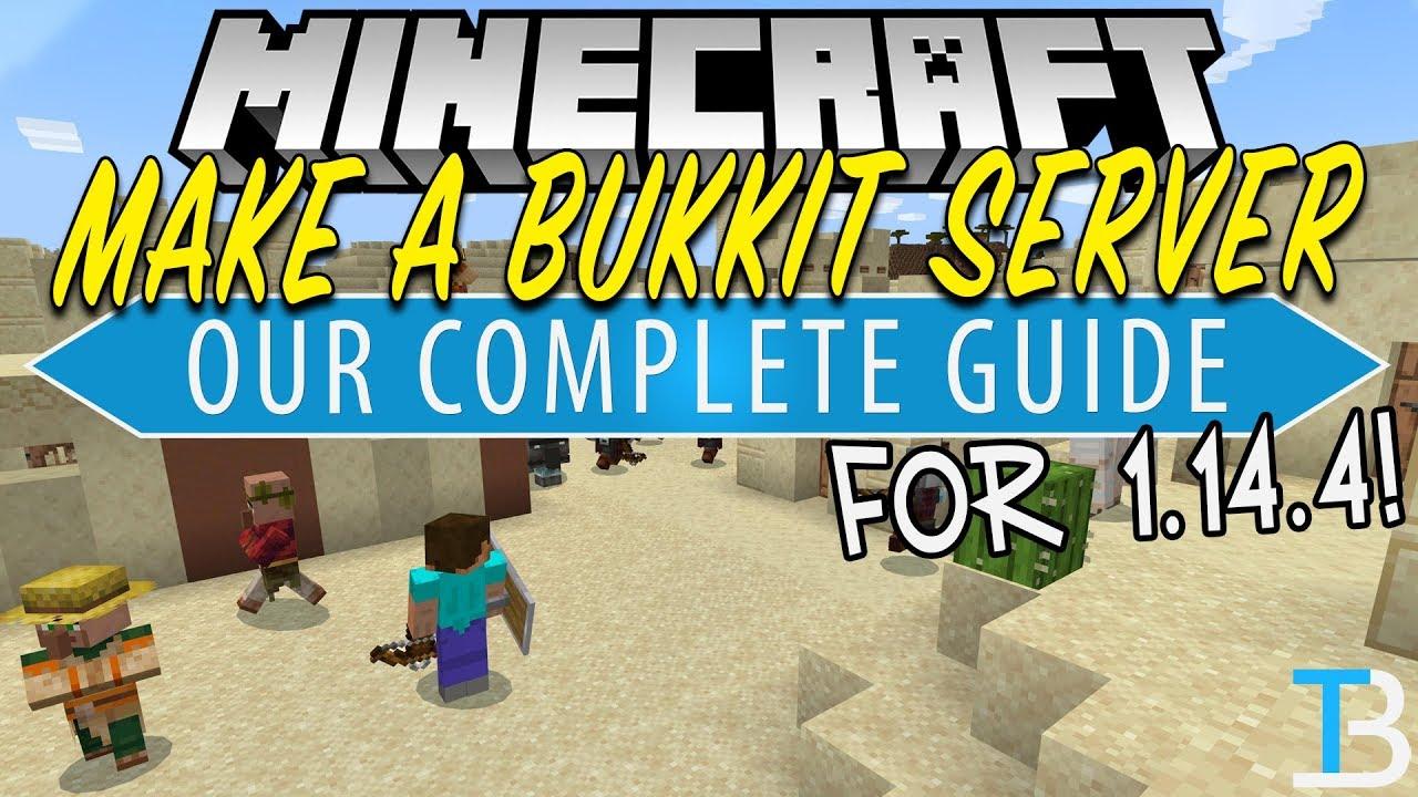 How To Start A Bukkit Server in Minecraft - TheBreakdown xyz