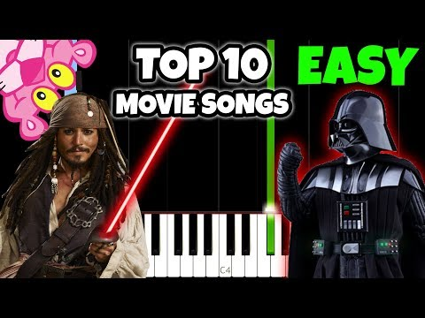 Top 10 Movie Songs To Play On Piano Easy Piano Tutorial