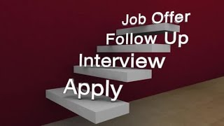 Job Offer Interview Steps Apply How to Get New Position | Motion Graphics