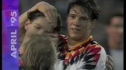 Die Nationalmannschaft spielt gegen Wales in der EM-Qualifikation für 1996 (11.10.1995)