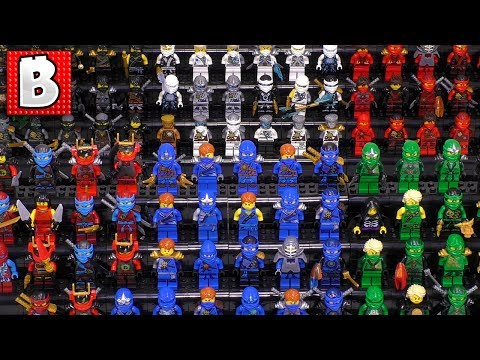 Every LEGO Ninjago Ninja Ever Made!!! Zane Jay Lloyd Kai Nya Cole